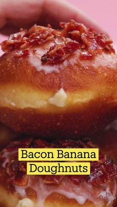 Fun Baking Recipes, Donut Recipes, Brunch Recipes, Dessert Recipes, Cooking Recipes, Delicious Donuts, Delicious Desserts, Yummy Food, Beignets