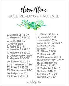 Never Alone Bible Reading Plan & Journal Challenge - RachelWojo.com