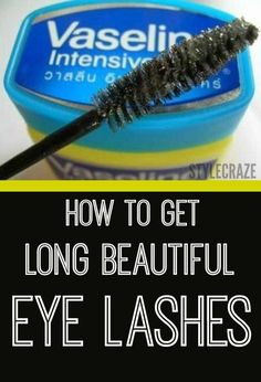 9 Natural Remedies To Get Beautifully Long Eyelashes: To give our eyelashes that dramatic look, we either use mascara or fake eyelashes. But for how long ladies? Why don't we explore some natural ways to grow long eyelashes instead? How To Grow Eyelashes, Longer Eyelashes, Long Lashes, False Eyelashes, Thicker Eyelashes, Vaseline Eyelashes, Artificial Eyelashes, Eyebrows Grow, Beauty Hacks Eyelashes