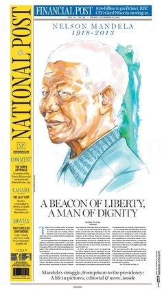 Newspaper front pages after Nelson Mandela's death