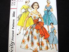 50s Rockabilly Dress Pattern UNCUT by PatternsFromThePast on Etsy, $35.00--I thrifted this pattern.That bow is amazing.