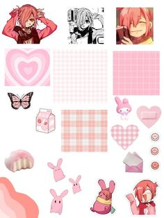 Pink Retro Wallpaper, Cute Anime Wallpaper, Journal Stickers, Scrapbook Stickers, Anime Stickers, Cute Stickers, Animes Wallpapers, Cute Wallpapers, Anime Crafts