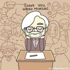 Ghibli Studio Thank you Hayao Miyazaki. Hayao Miyazaki, Studio Ghibli Films, Art Studio Ghibli, Otaku, Chihiro Y Haku, Girls Anime, Howls Moving Castle, Film Studio, My Neighbor Totoro