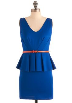 Royal Ways by Your Side Dress from Modcloth. #bluebridesmaid #weddingstyle