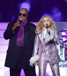 Pin for Later: Nothing Compares to Madonna's Sparkly Purple Prince Suit