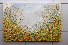 Made-By-Me....Julie Ryder: Canola Fields...Acrylics on canvas.