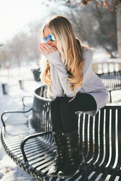 Barefoot Blonde com- Snow Attire! Aline ♥ winter fashion