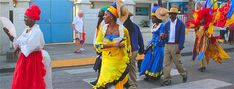Barbados Festivals: Holetown Festival!  The colourful street parade is one of the most popular events of this annual festival. http://barbados.org/holetown.htm