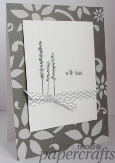 Mellymoo papercrafting with love monochrome handmade card
