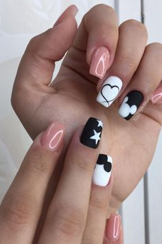 Nail Art: 42 Free The Best 5 Ways To Design Your Nails New 2019 - Page 17 of 42 , , nail art; nail art designs for spring; Nails Art Nail Art: 42 Free The Best 5 Ways To Design Your . Cute Nails, Pretty Nails, My Nails, Best Acrylic Nails, Acrylic Nail Designs, Disney Nail Designs, Disney Acrylic Nails, Simple Nail Art Designs, Spring Nail Art