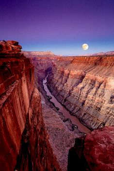 Beautiful Moon, Beautiful Places, Beautiful Pictures, Mystic Moon, Super Moon, Grand Canyon, Serenity, Physics, Natural Beauty