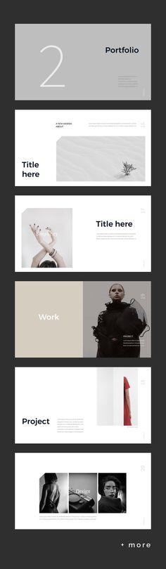 Simple & Minimal Presentation Template #keynote #presentation #simple #minimal #portfolio #business