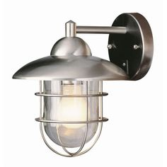 Buy the Trans Globe Lighting 4371 ST Stainless Steel Direct. Shop for the Trans Globe Lighting 4371 ST Stainless Steel Industrial 1 Light Outdoor Wall Sconce - 9 Inches Wide and save. Outdoor Wall Mounted Lighting, Outdoor Light Fixtures, Outdoor Wall Lantern, Outdoor Wall Sconce, Outdoor Walls, Bel Air Lighting, Porch Lighting, Sconce Lighting, Home Lighting