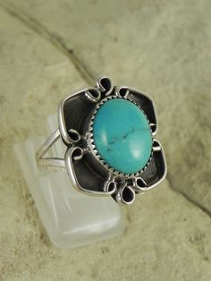 Pawn Native American Turquoise Ring by hollywoodrings on Etsy, $45.00