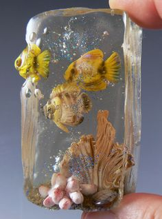 """sneak peek! this """"Fish Outta Water"""" project using polymer and resin is one of the exclusive CF projects coming up for the May membership of the Neighborhood! Find out how to join at www.ChristisNeighborhood.com #resin #polymer #christifriesen #tropicalFish #ocean #snorkle #tutorial"""