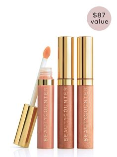 Beauty Counter Limited Edition New Nudes Lip Gloss Trio $49 - 3 full size, limited edition colored lip glosses