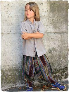 pantaloni Olgado junior  pantaloni  bambino Ampio  pantalone  etnico con  elastico in cintura a4d47c3d7b83