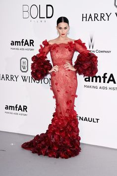 Katy Perry in Marchesa - '2016 amfAR Cinema Against AIDS Gala'