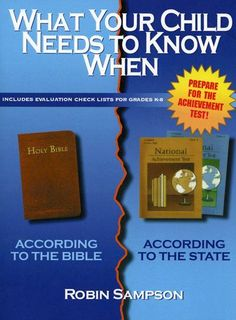 What Your Child Needs to Know When: According to the Bible, According to the State. 5 Stars review on Amazon This is the PRINTABLE eBook on Etsy.