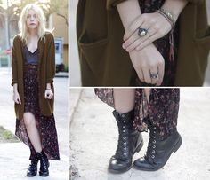 Lsd Jewelry, Vintage Boots, Vintage Skirt, Vintage Sweater, Vintage Tee, Forever 21 Belt