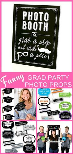 Looking for easy but fun grad party photo booth ideas? Get tips on how to set up a fabulous graduation party photo booth or selfie station. Click to seeeasy DIY photo booth ideas for indoor or outdoor grad parties!  #graduationparty #gradparty #graduation #grad #FINDinista.com