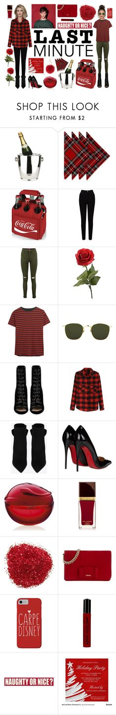 """""""Wine"""" by victoriajakubowski ❤ liked on Polyvore featuring Winco, Picnic Time, EAST, Boohoo, R13, Linda Farrow, Barbara Bui, Whiteley, Yves Saint Laurent and Christian Louboutin"""