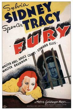 Fury is a 1936 Crime, Drama film directed by Fritz Lang and starring George Walcott, Spencer Tracy. Classic Movie Posters, Original Movie Posters, Film Posters, Cinema Posters, Classic Film Noir, Classic Movies, Old Movies, Vintage Movies, Vintage Dog