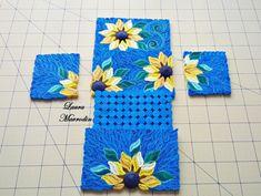 Paper quilled sunflower box tutorial