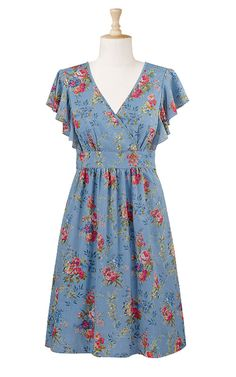 1940s house dress my mom wore these well into the 50s Most
