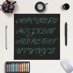Mint Glitter Alphabet -  http://etsy.me/2cidmGS You will receive 26 digital alphabet – Uppercase – High Resolution PNG