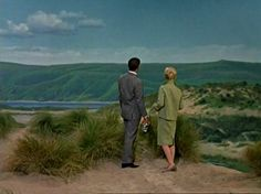 Fantastic matte paintings by Albert Whitlock, The Birds, Hitchcock, 1963