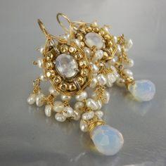 Yifat Bareket Maharaja Pearl Moonstone Earrings on Etsy