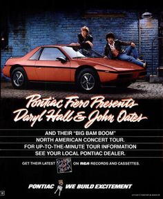 Pontiac Fiero Presents Daryl Hall & John Oates (1985)  I actually won a contest for this show in DC. Got a tour jacket and great seats for the show.
