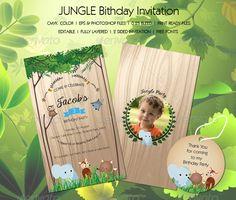 Jungle Birthday Invitation - from http://graphicriver.net/user/staticeblue/portfolio