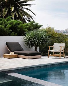 [New] The 10 Best Home Decor (with Pictures) - We love the outdoor styling by - simple sleek and superb. Add an outdoor heater and youve got your winter poolside sips sorted. Poolside Furniture, Outdoor Furniture, Outdoor Decor, Decor Interior Design, Interior Decorating, Tiny Container House, Outdoor Heaters, Coastal Gardens, Concrete Tiles