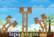 Juego de Deconstructor 1 | JUEGOS GRATIS: Hay varias torres con cajas y una linea de mete, coloca la dinamita en lugares puntos claves para poder hacer explotar y asi caer por debajo de la linea, varios niveles y se hace mas dificil