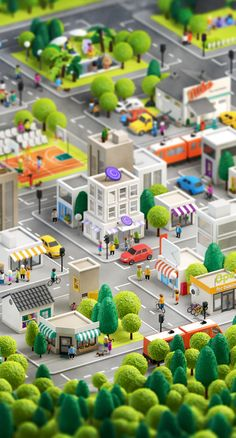 A Russian graphic designer Anna Paschenko, asked by Australian creative agency Loud&Clear to create a 3D city. There requirements were to create 20 specific building to represent different types of business. 3D City illustration is simply magnificent. Check out  http://www.byteswire.com/magnificent-3d-city-illustration/