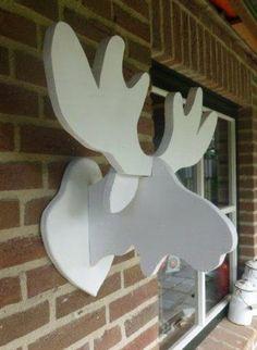 Moose Wood Framed Sign Tutorial Printables Moose Head