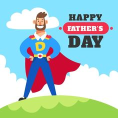 Fathers day illustrated concept | Free Vector #Freepik #freevector #design #man #celebration #holiday Fathers Day Banner, Happy Fathers Day, Corona Vector, Banners, Fathers Day Wallpapers, Superhero Symbols, Design Plano, Father's Day Celebration, Daddy Day