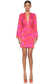 7f8abf1bde876 LOVE IT. Issa Mini Kimono Dress in Magenta in Pink (magenta)