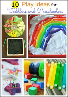 10 Play Ideas for Toddlers and Preschoolers from The Kids Weekly Co-Op