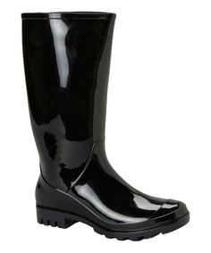Look what I found on #zulily! Skadoo Black Glossy Rain Boot by Skadoo #zulilyfinds