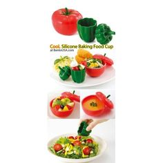 Pepper and tomatoes cups