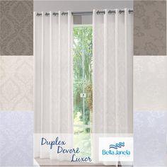 Delicada e moderna, as cortinas Devorê Luxor estão disponíveis em 2 desenhos de 3 cores diferente! Garanta a sua!