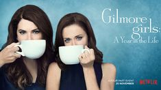 'Gilmore Girls' Reboot Releases New Poster Featuring Rory & Lorelai!: Photo Lauren Graham and Alexis Bledel sip on some coffee in the new poster for Gilmore Girls: A Year in the Life. The four episodes will premiere in just… Amy Sherman Palladino, Alexis Bledel, Gilmore Girls Netflix, Lorelai Gilmore, Gilmore Girls Merchandise, Gilmore Girls Poster, Scott Patterson, Lauren Graham, Stars Hollow