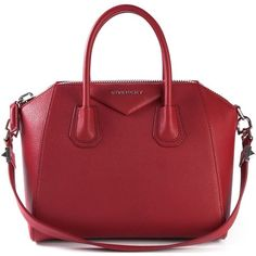 Givenchy medium 'Antigona' tote (36 665 UAH) ❤ liked on Polyvore featuring bags, handbags, tote bags, givenchy, purses, red, leather purse, leather tote, genuine leather tote and leather tote bags