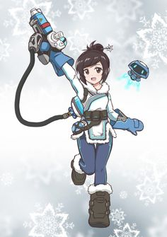 Cute Mei from Overwatch! (even though she us the spawn of Satan) Overwatch Mei, Overwatch Comic, Overwatch Fan Art, V Games, Video Games, Cute Drawlings, Overwatch Drawings, Disney Fan Art, A Team
