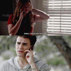 Stefan & Elena // talking about Liam