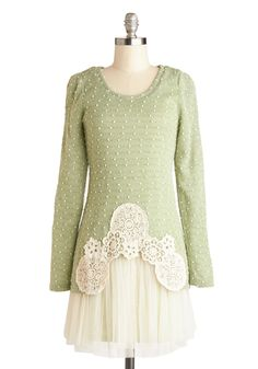 Girlish Gaiety Dress, #ModCloth This layered looking dress would be great for spring or autumn.