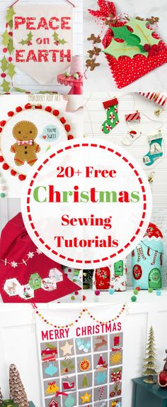 20+ Things To Sew For Christmas Free Sewing Patterns and Tutorials